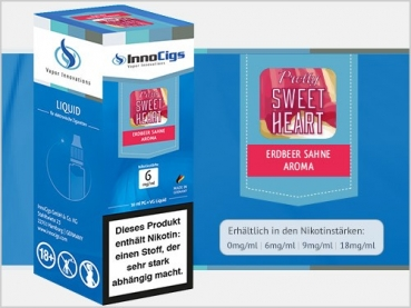 "Erdbeer-Sahne Liquid ""Pretty Sweetheart"" - 10ml - InnoCigs"
