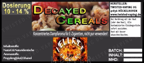 Twisted Flavours Aroma Decayed Cereals